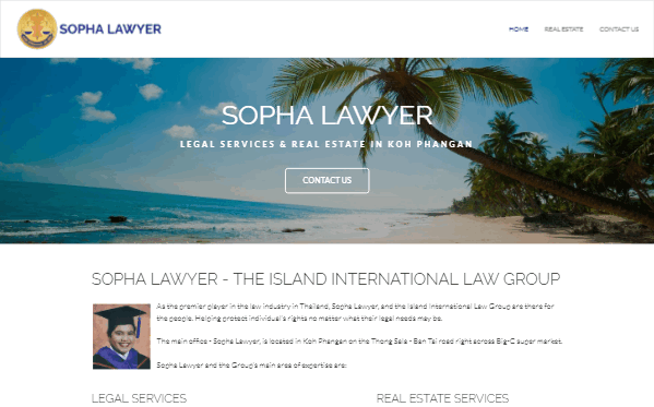 Sopha Lawyer - Responsive Website