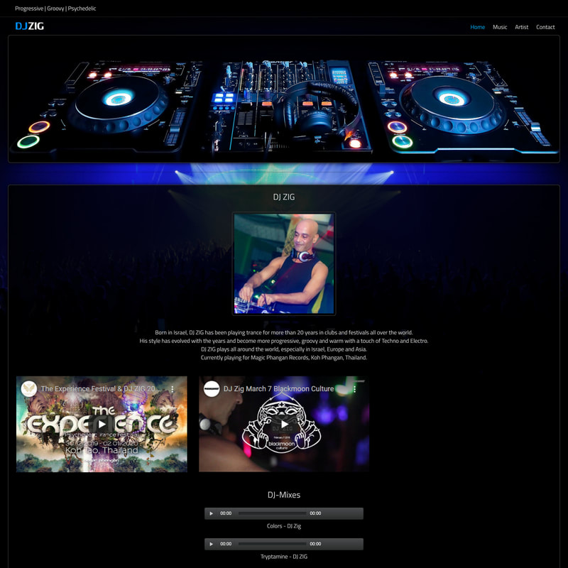 DJ Zig - Responsive Website