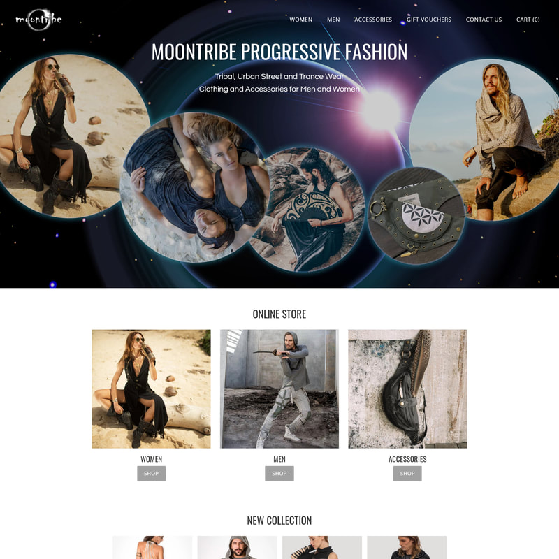 Moontribe Fashion - Online Store | Responsive Website