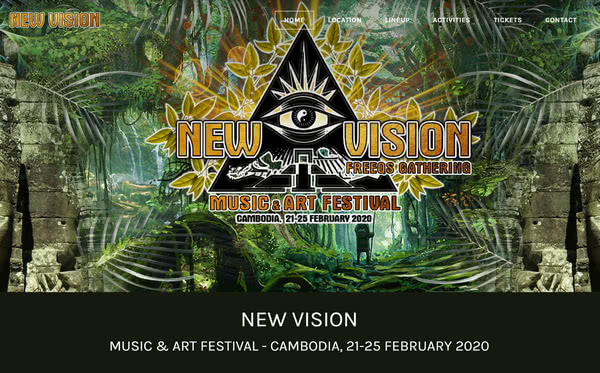 New Vision Festival | Responsive Website