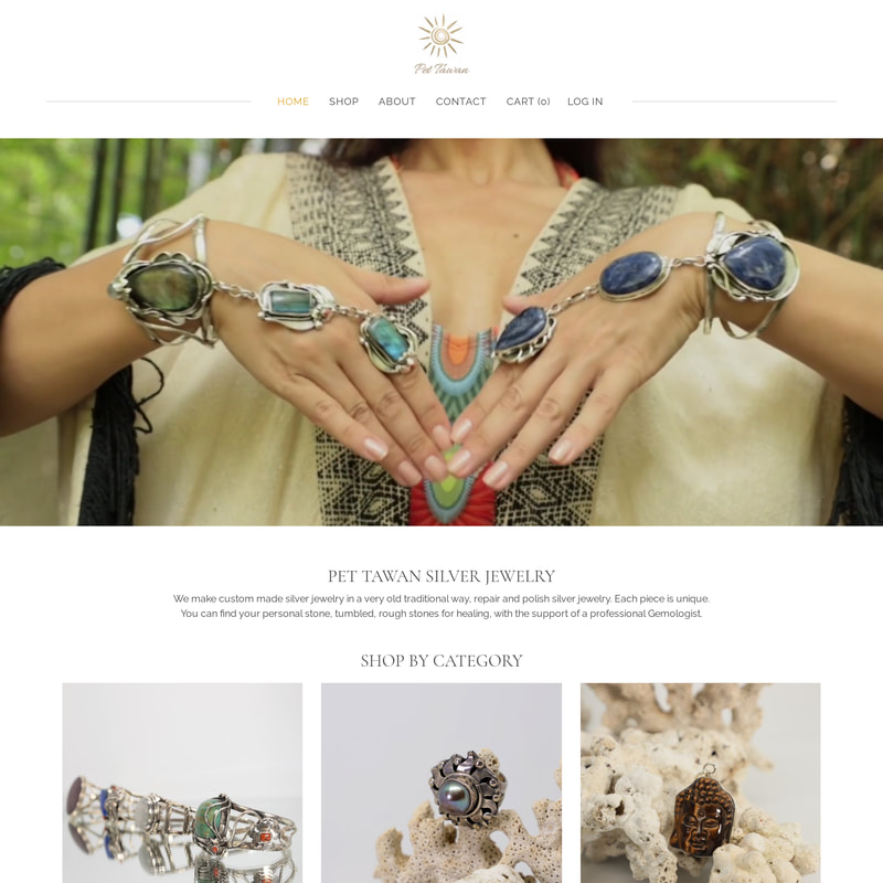 ​Pet Tawan Silver Jewelry - Online Store | Responsive Website
